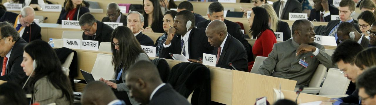 General view of the room XX and delegates during of the High Level Segment of the 31st Session at the Human Rights Council, Geneva, Switzerland, February 29, 2016