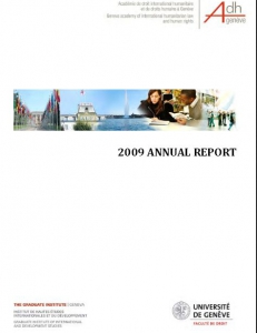 Cover of the Annual Report 2009