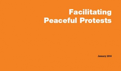 Cover of the Briefing No5: Facilitating Peaceful Protests