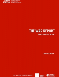 Cover page of the War Report 2017