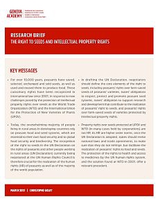 Cover of the Research-Brief: The Right to Seeds and Intellectual Property Rights
