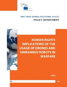 Cover of Human Rights Implications of the Usage of Drones and unmanned Robots in Warfare